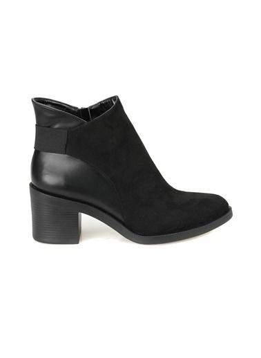 Butigo Kalın Topuklu Bot Siyah